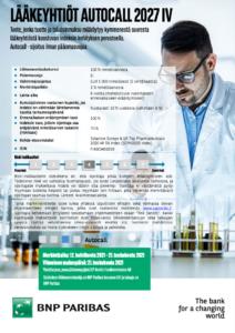 Lääkeyhtiöt Autocall 2027 IV