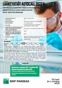 Lääkeyhtiöt Autocall 2027 V