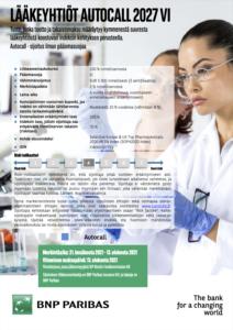 Lääkeyhtiöt Autocall 2027 VI