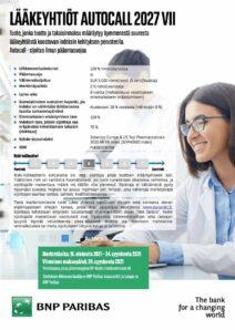 Lääkeyhtiöt Autocall 2027 VII