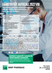Lääkeyhtiöt Autocall 2027 VIII